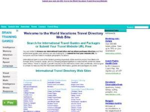 WV Travel Directory Submit sites - UK Travel Directories Directory