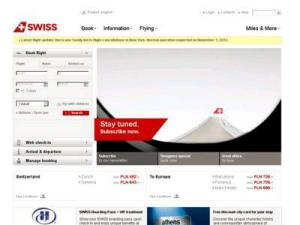 SWISS - Airlines in UK Directory