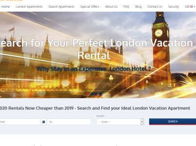 London Vacation Rentals - Accommodation in UK Directory