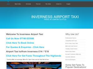 Inverness Airport Taxi - Taxi UK Directory