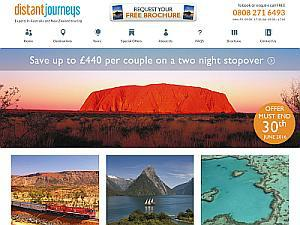 Distant Journeys  - Travel agents UK Directory